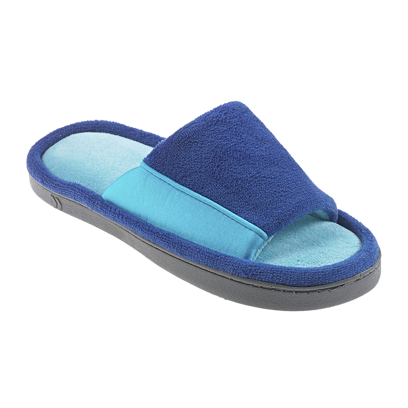 Isotoner Microterry Open Toe Slide Slipper