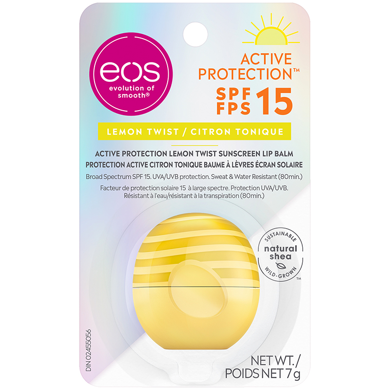 eos Active Sunscreen Lip Balm SPF15 - Lemon Twist - 7g