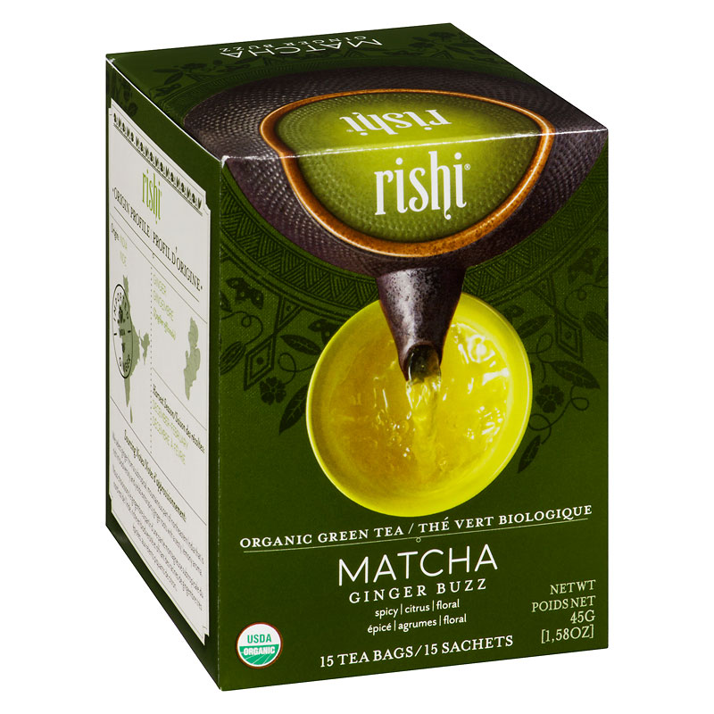 Rishi Organic Green Tea - Matcha Ginger Buzz - 15's