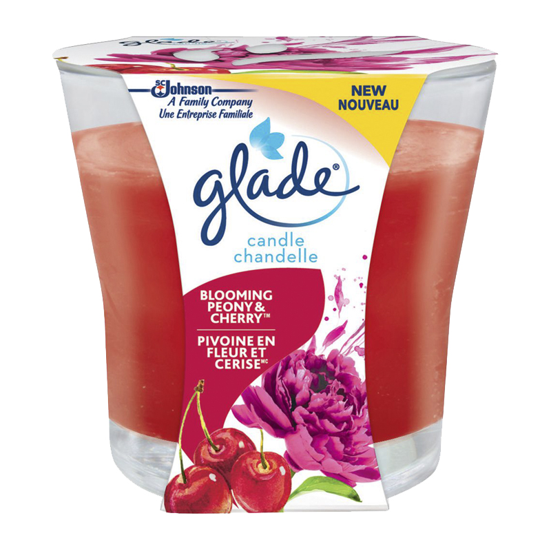 Glade Scented Candle - Blooming Peony & Cherry - Single