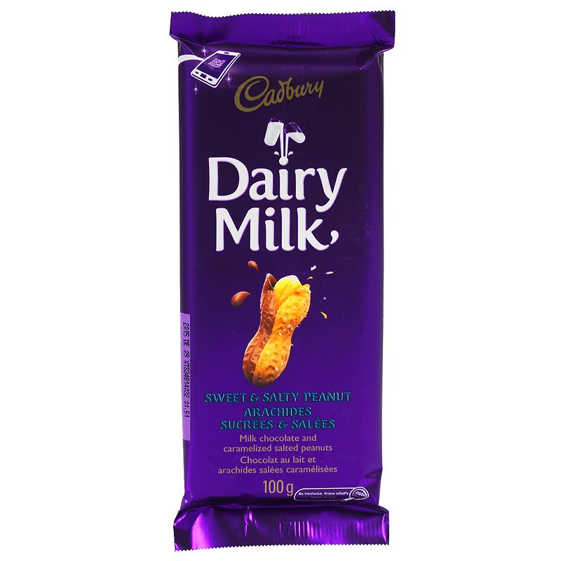 Cadbury Dairy Milk Chocolate Bar - Sweet & Salty Peanut - 100g