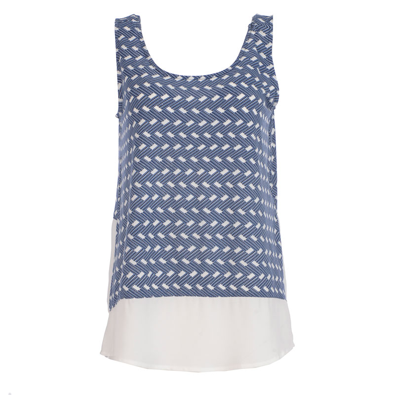 Lava Tank with Printed Bottom - Navy