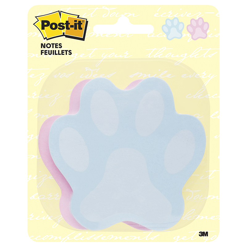 3M Post-It Notes - Pawprint
