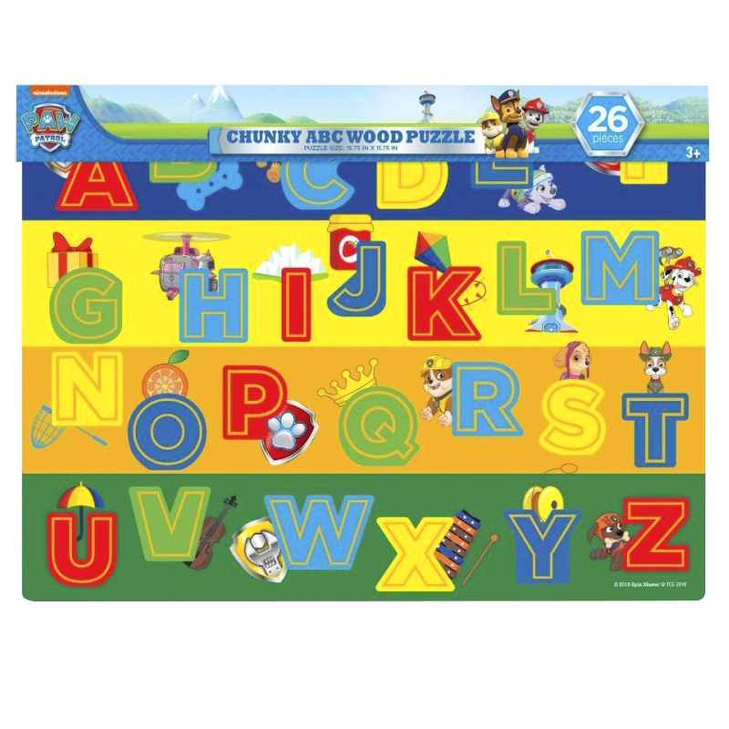 Paw Patrol Chunky ABC Wood Puzzle - 26 Pieces