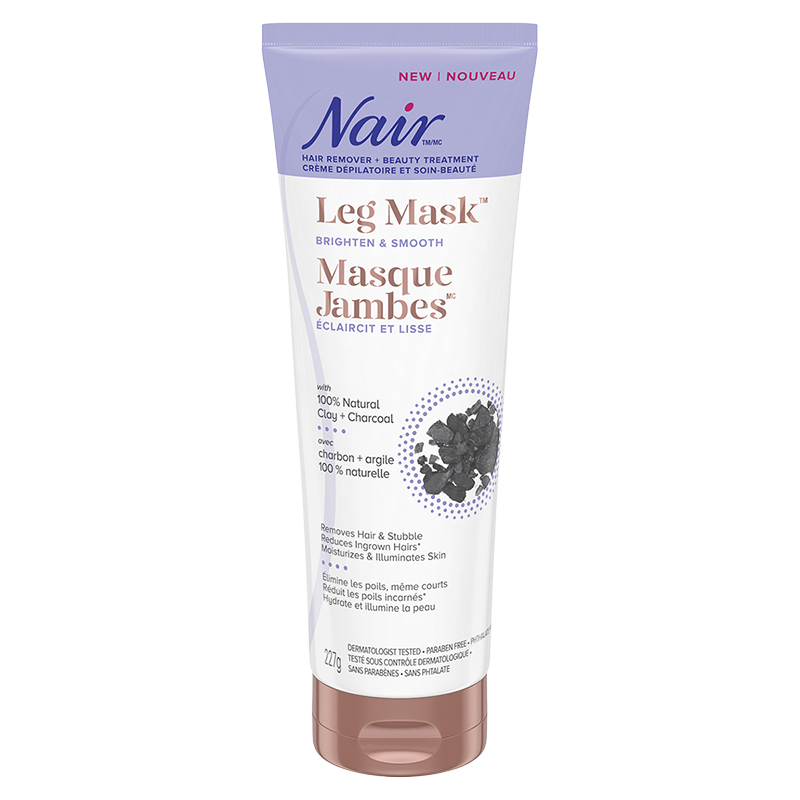 Nair Leg Mask Hair Remover Brighten Smooth Clay Charcoal
