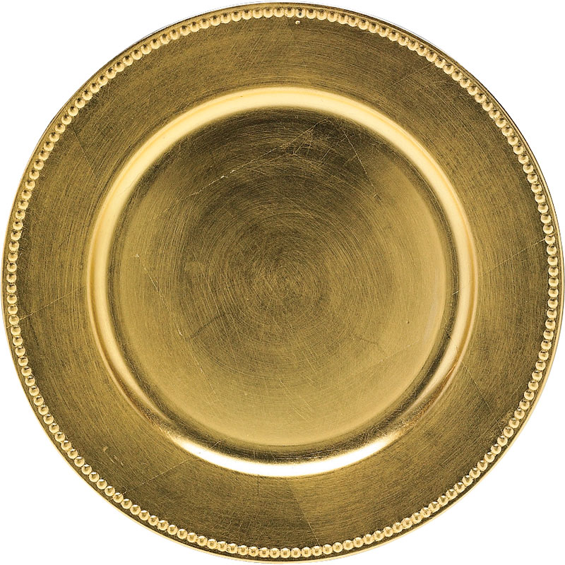 London Home Round Charger Plate - Gold