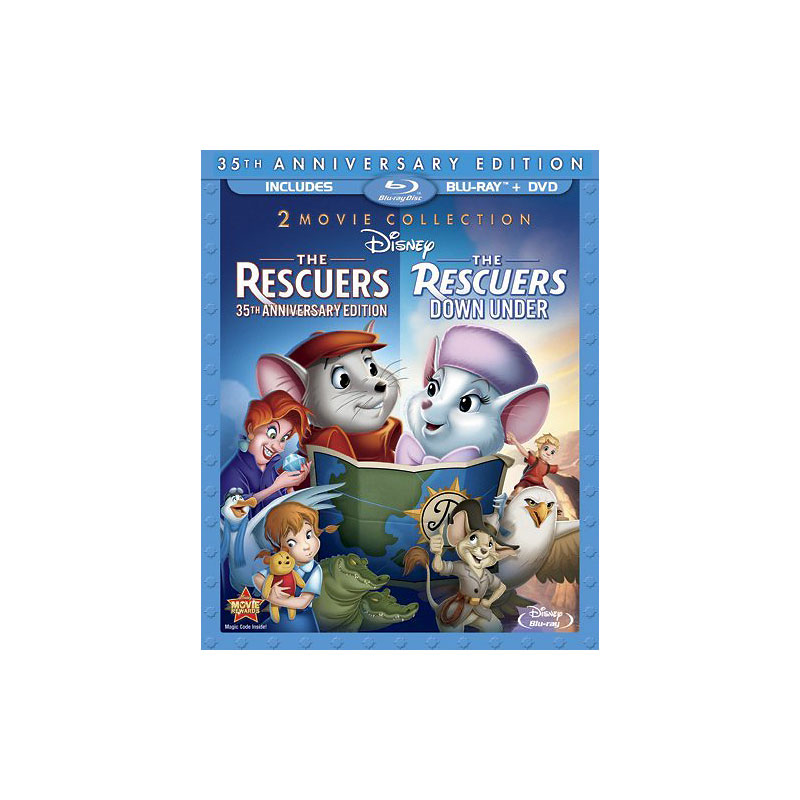 The Rescuers: 35th Anniversary Edition / The Rescuers Down Under - Blu-ray + DVD
