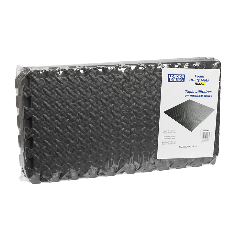 London Drugs Foam Utility Mats - Black - 16piece