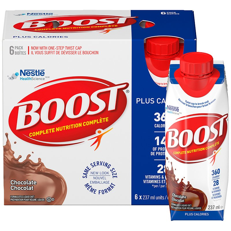 Boost Plus Calories Drink - Chocolate - 6 x 237ml