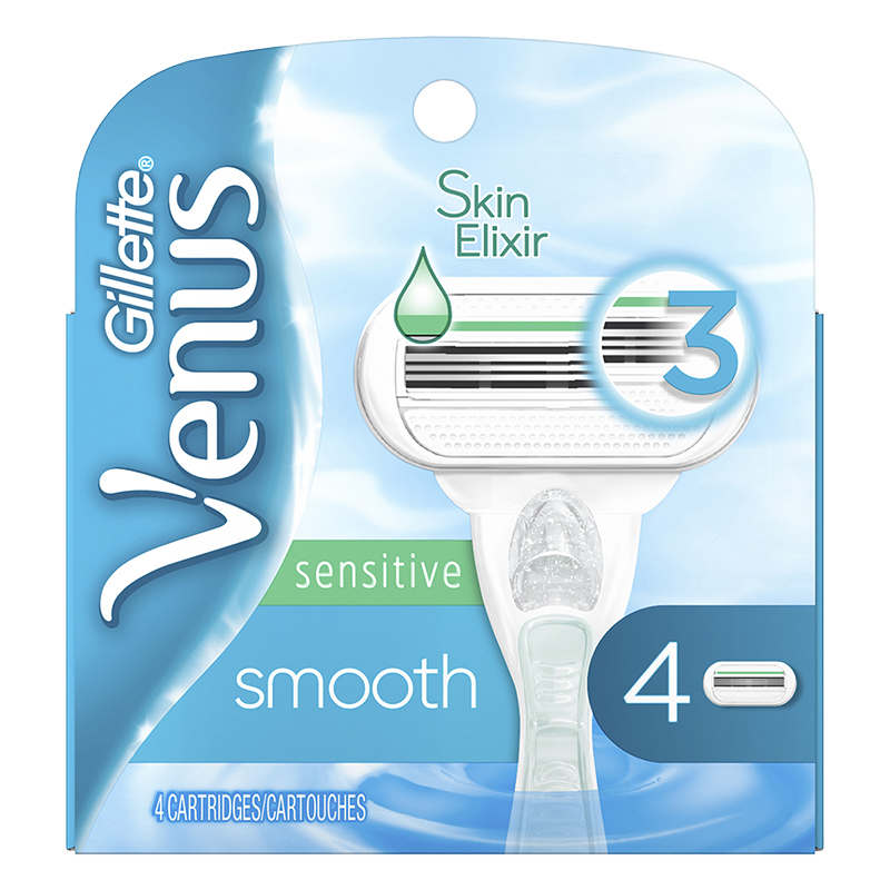 Gillette Venus Smooth Sensitive Cartridge Refills - 4 Pack