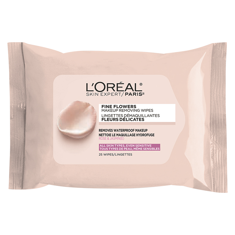 L'Oreal Fine Flowers Makeup Removing Wipes - 25's