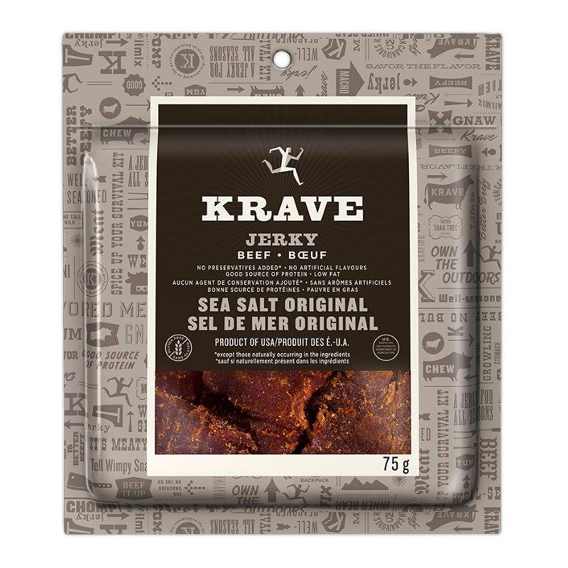 Krave Jerky - Sea Salt Original - 75g