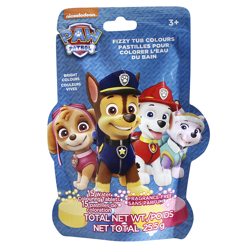 Nickelodeon Paw Patrol Fizzy Tub Colours - 25.5g