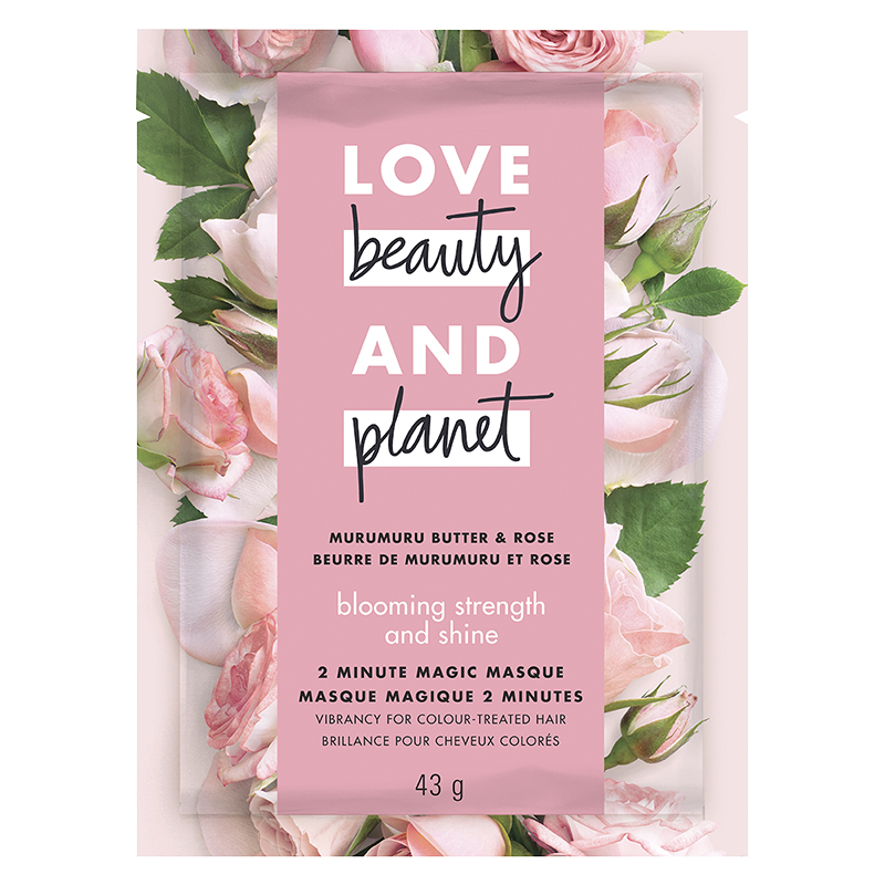 Love Beauty And Planet Strength & Shine Hair Masque - Murumuru Butter & Rose Oil Blooming - 44ml