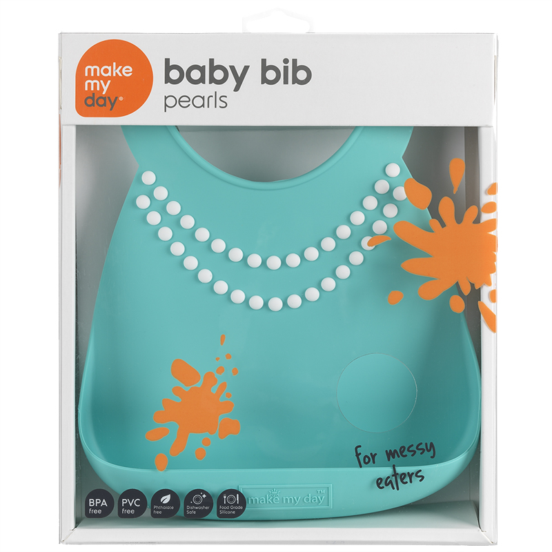 Make My Day Baby Bib - Pearls