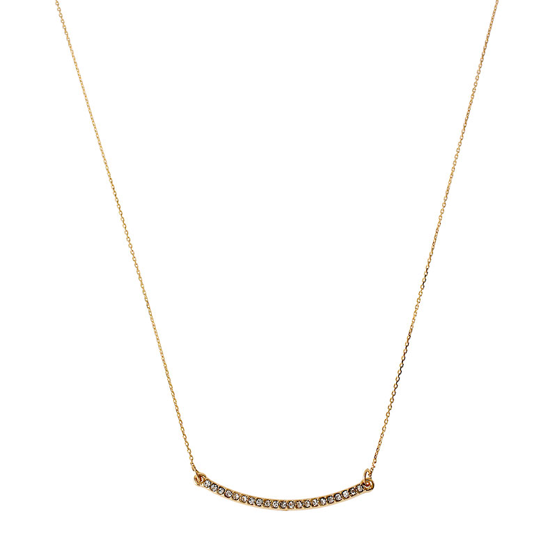 Kenneth Cole Crystal Pave Bar Necklace - Gold