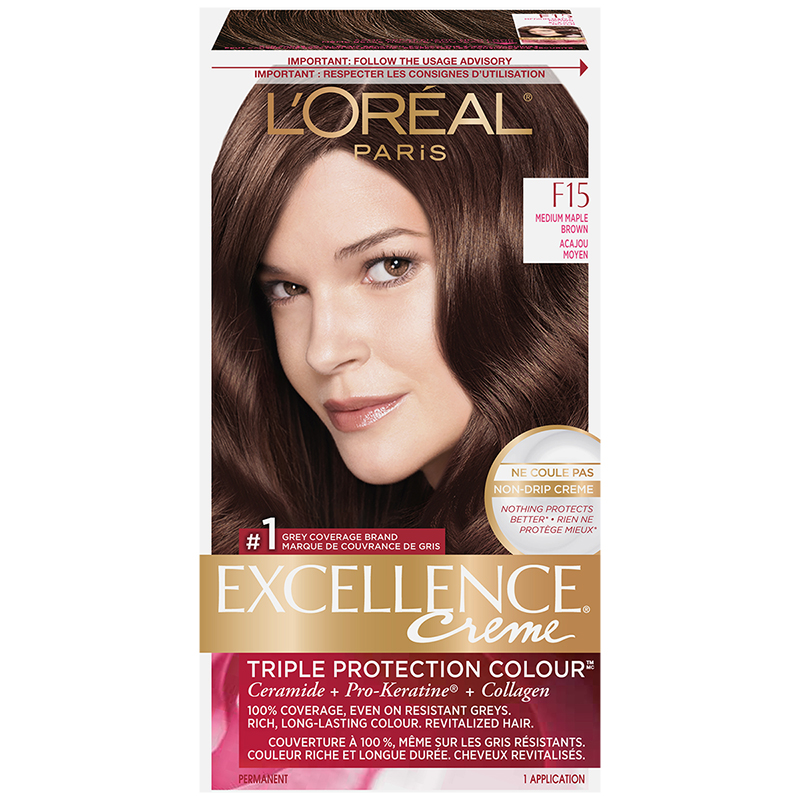 L'Oreal Excellence Creme - F15 Medium Maple Brown