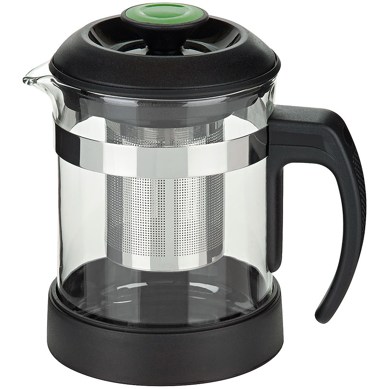 Trudeau Tea Maker - Black and Grey - 20oz
