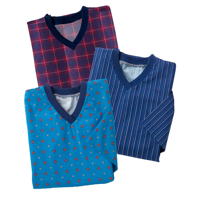 Silvert's Men's Nightgown - 3 pack