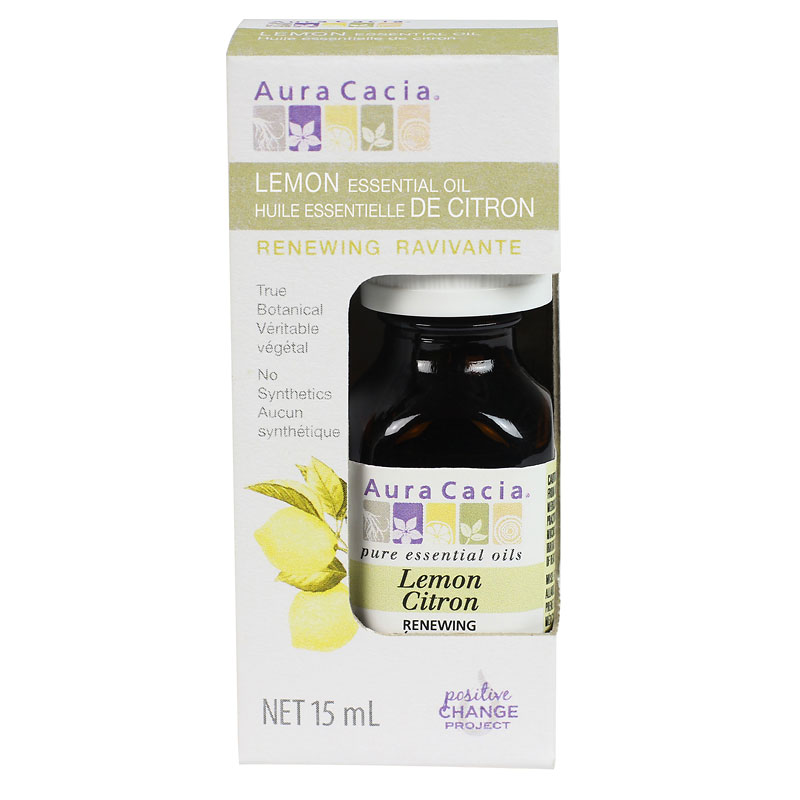 Aura Cacia Essential Oil - Lemon - 15ml
