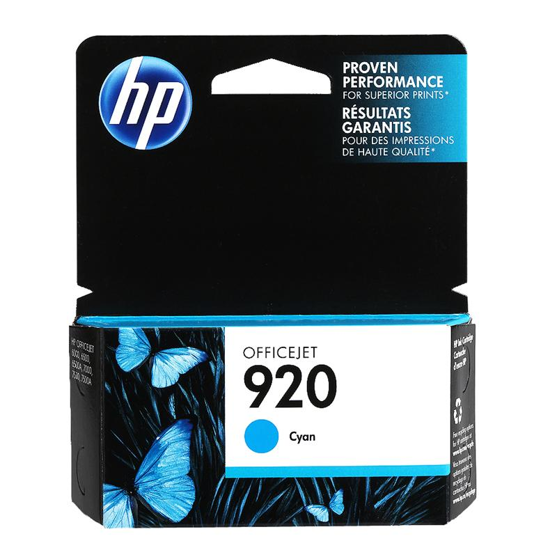 HP 920 Officejet Ink Cartridge - Cyan - CH634AC140
