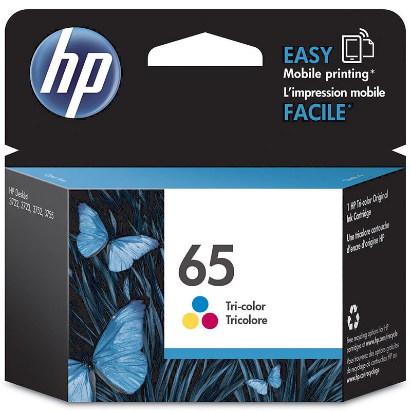HP 65 Ink Cartridge - Tri Colour - N9K01AN#140