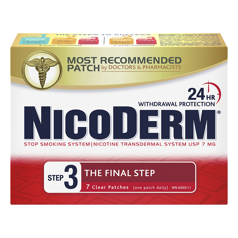 Nicoderm Stop Smoking System STEP 3 - 7mg - 7 clear patches