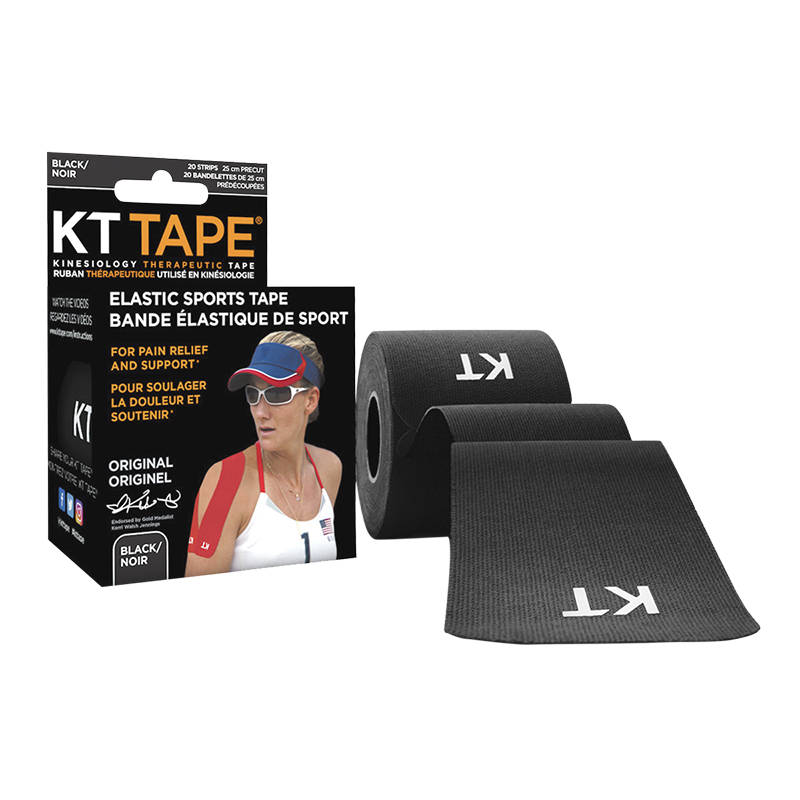 KT Tape Elastic Sports Tape - Original - Black - 20's