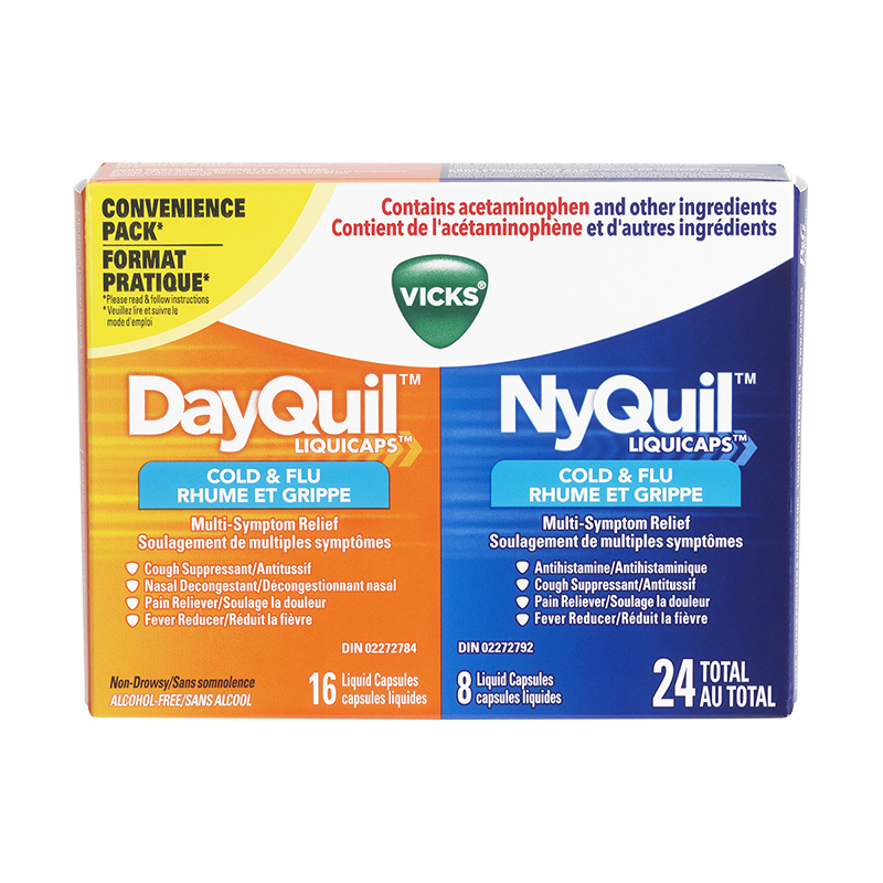 vicks dayquil nyquil convenience pack 24 s london drugs