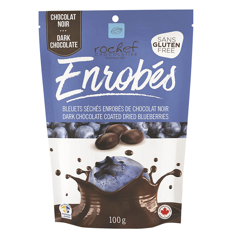 Rochef Enrobes Dark Chocolate Coated Dried Blueberries - 120g