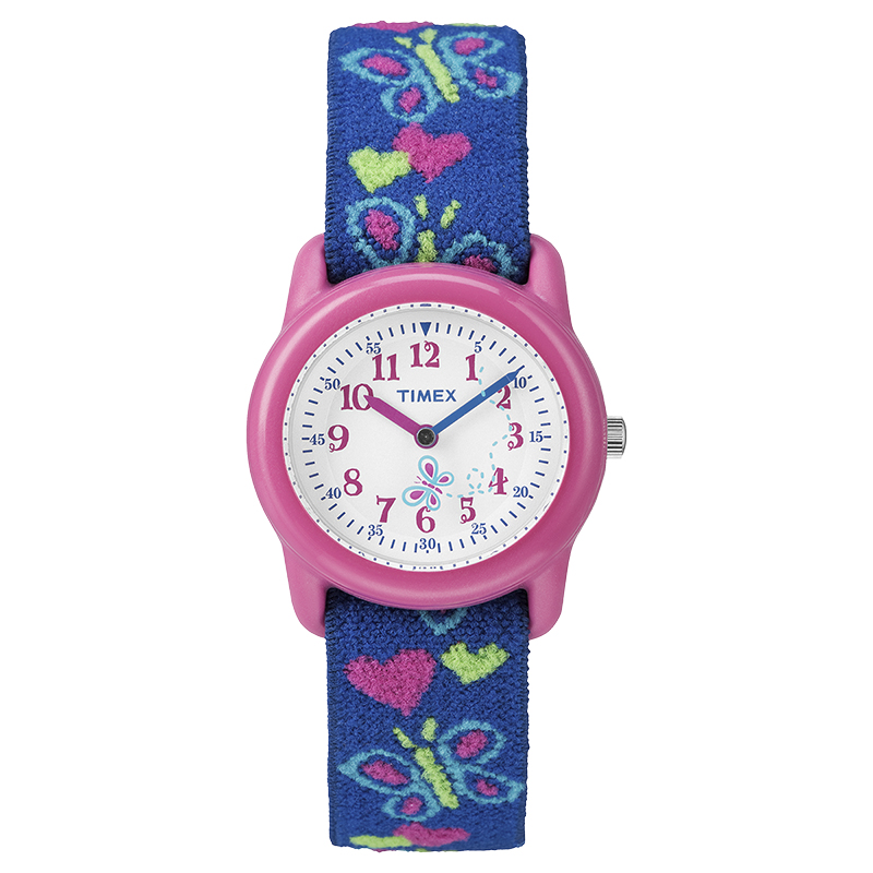 Timex Youth Girls Analogue Watch - Pink/Blue - T89001XY