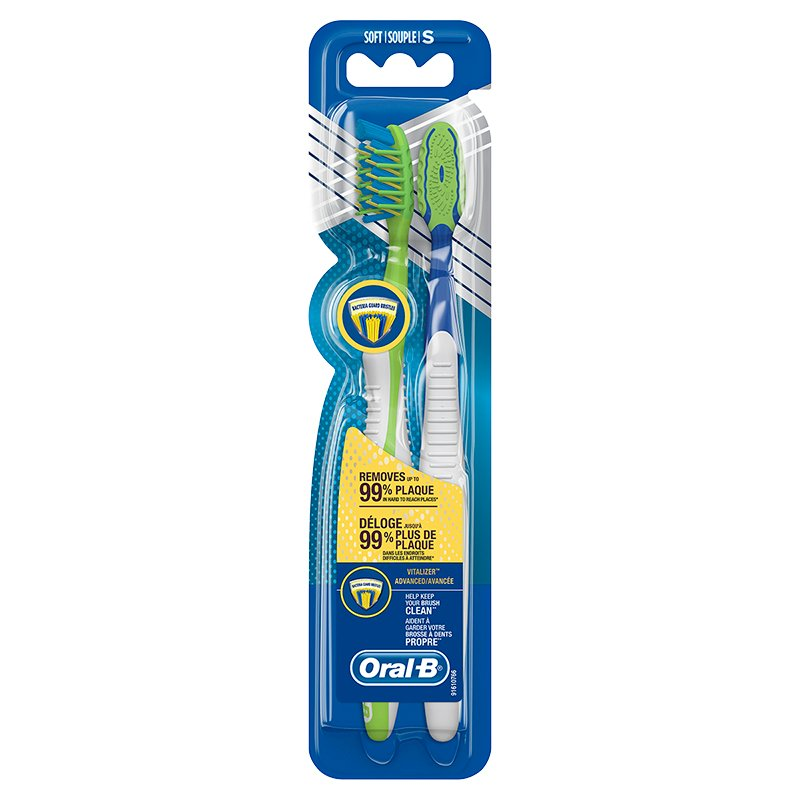 Oral-B Pro-Health Vitalizer Advanced Toothbrush - Soft - 2's