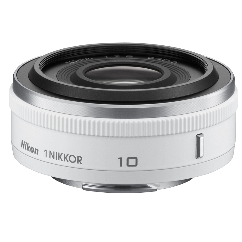 Nikon 1 10mm F/2.8 Lens - White - 3320 - Open Box Display Model