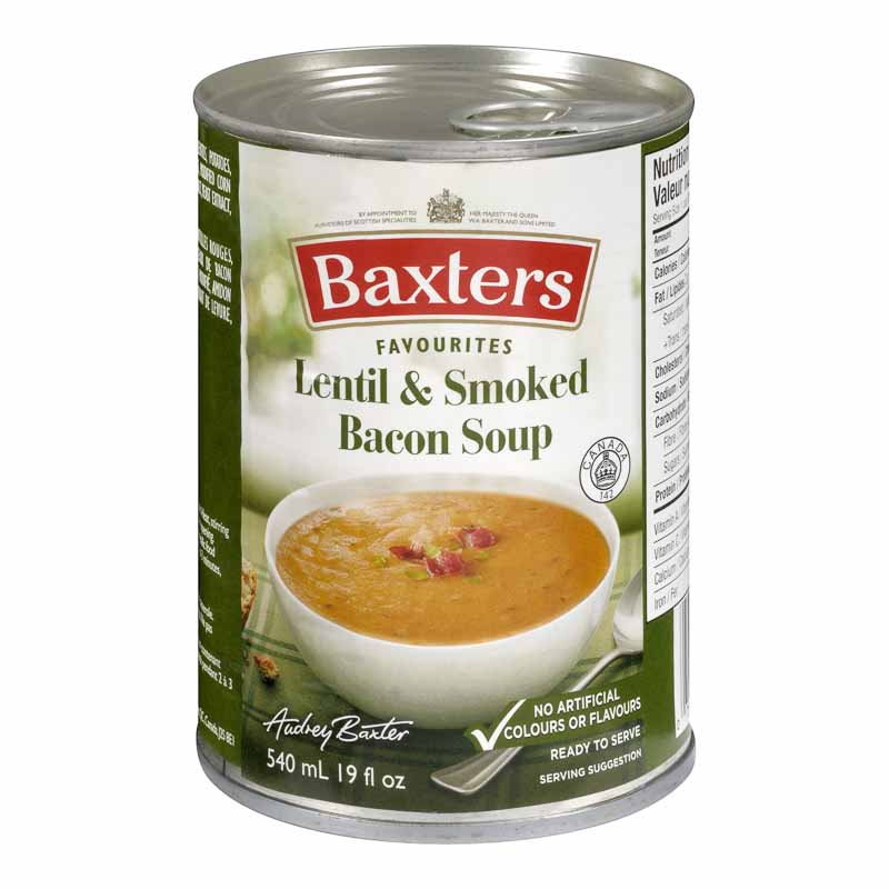 Baxter's Soup - Lentil & Smokey Bacon - 540ml