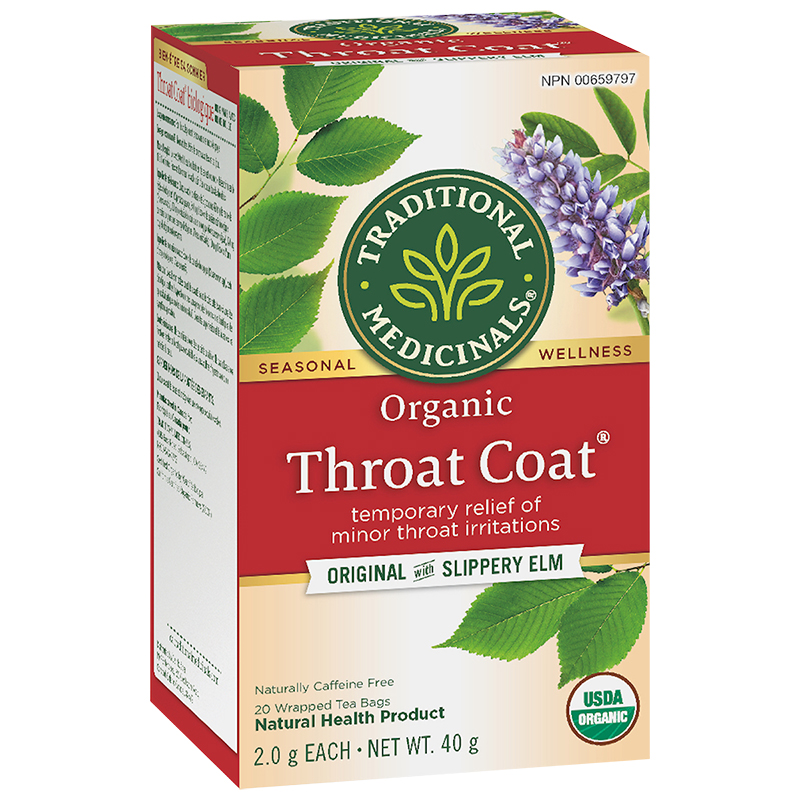 Traditional Medicinals Herbal Tea - Organic Throat Coat - 20's