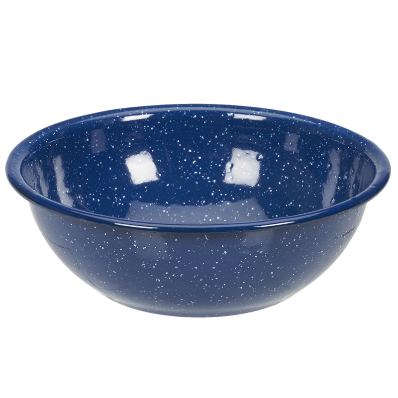 Enamel Camping Bowl - Blue - 6in