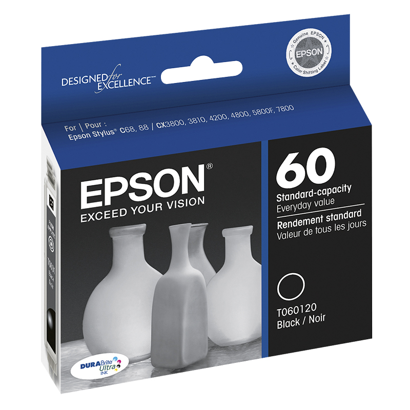 Epson Durabrite Ultra Colour Combo Pack Standard-Capacity Ink Cartridge - T060120-BCS