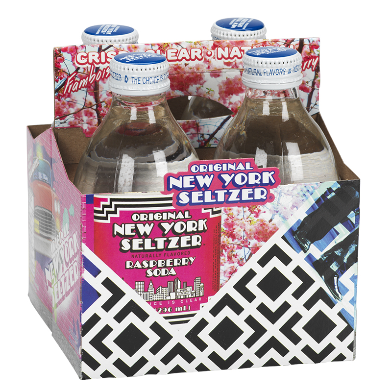 New York Seltzer - Raspberry - 4 x 296ml