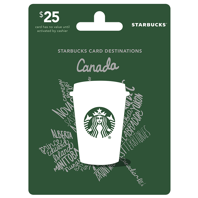 Starbucks Canada Gift Card - $25 - London Drugs