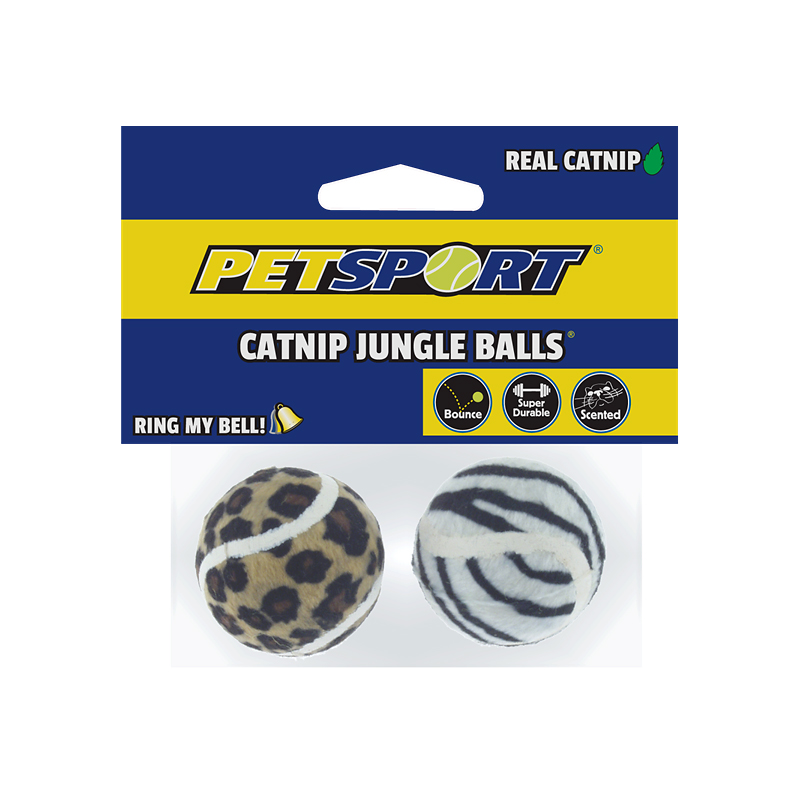 Petsport Catnip Jungle Balls - Assorted