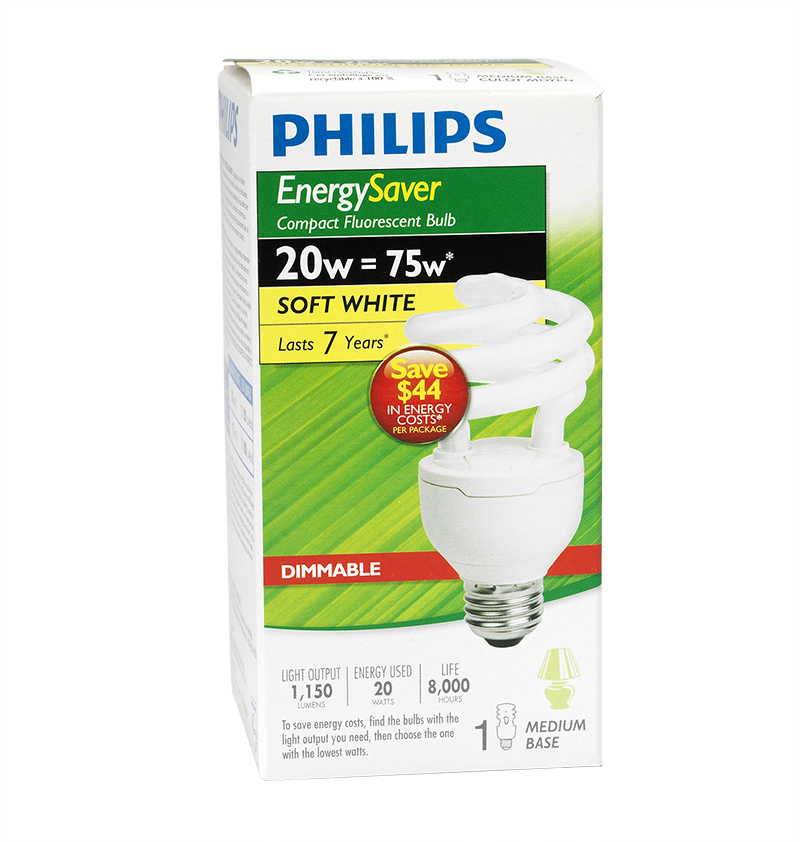 Philips Soft white CFL Bulb - 20w - 406405