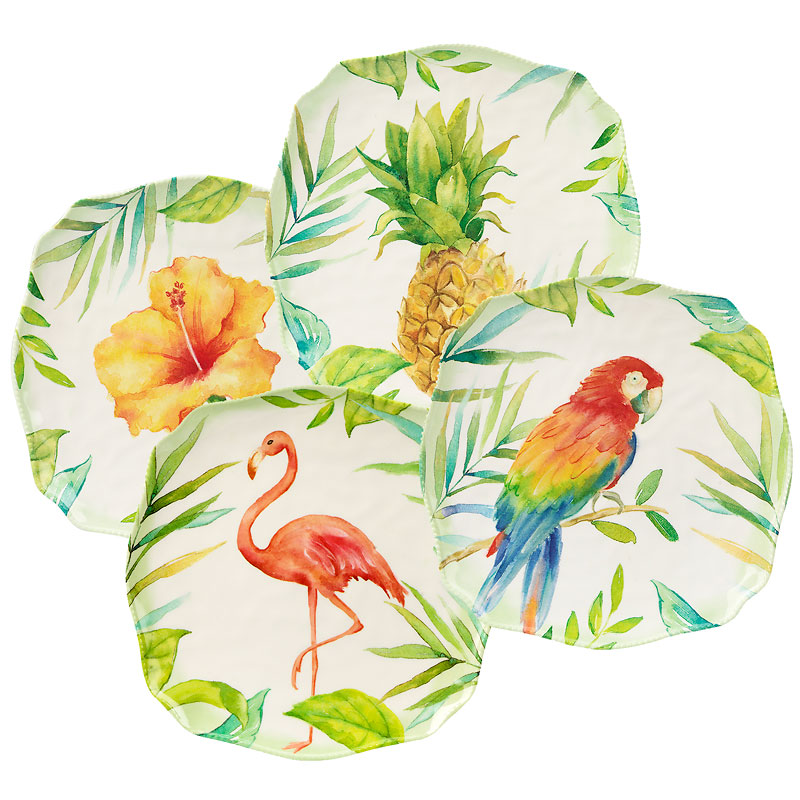 London Drugs Melamine Appetizer Plate - Assorted Tropical - 6in