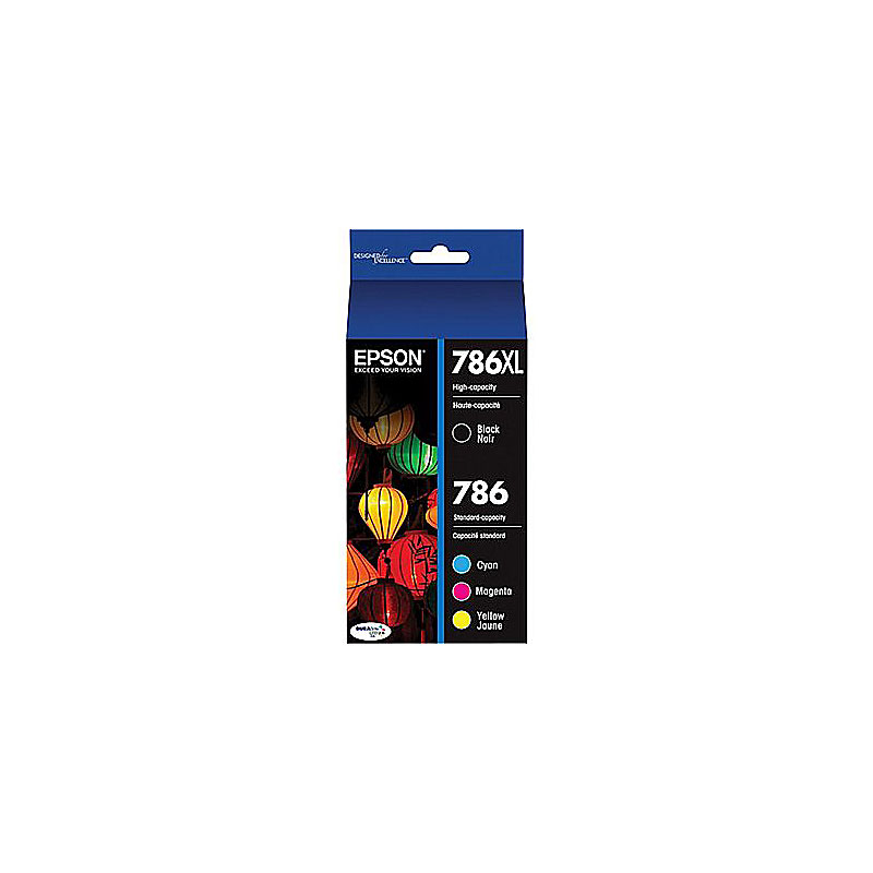 Epson DuraBrite Multi-Pack Ink Cartridge - Black/Color- T786XL-BCS