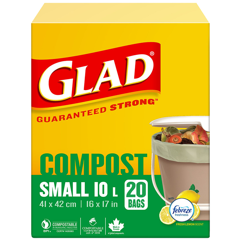 Glad Compole Bags Lemon Small 20 S