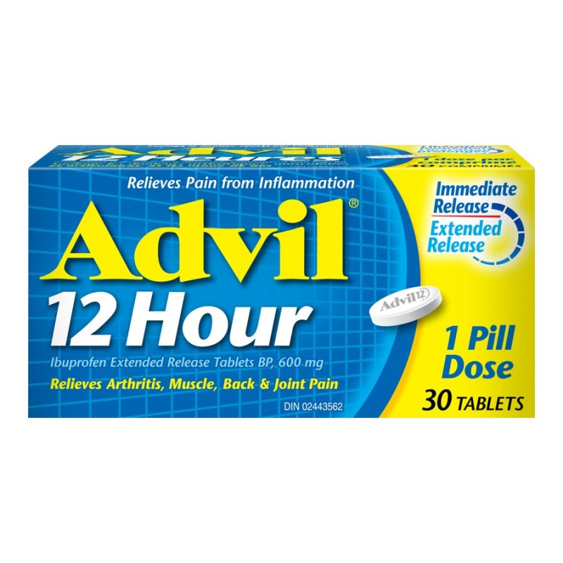 Advil 12 Hour Extended Release Tablets - 600mg - 30s