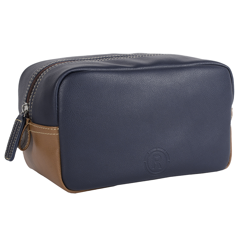 R70 Niccals Square Top Zip Travel Kit - Navy - R7039013