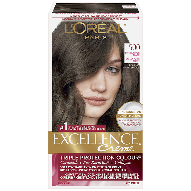 L'Oreal Excellence Creme - 500 Neutral Medium Brown