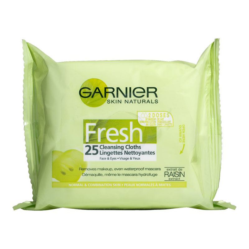 Garnier Skin Naturals Fresh Complete Cleansing Cloths - 25's