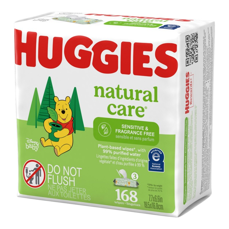 Huggies Natural Care Wipes - 3x56s