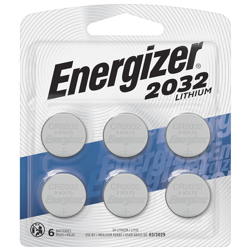 Energizer 2032 Lithium Coin Battery - 6 Pack - 2032BP-6